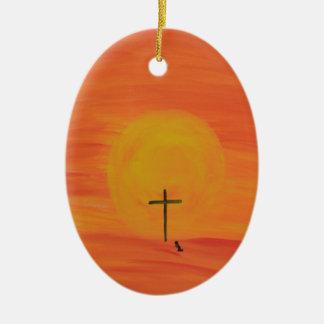 Treffen Sie mich am Kreuz Keramik Ornament