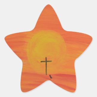 Treffen Sie mich am Kreuz Stern-Aufkleber