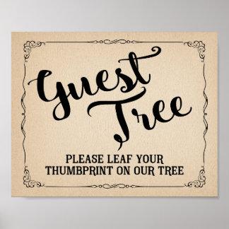 treiben bitte Ihr thumbprint auf unserem Poster