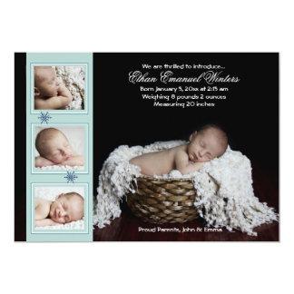 Treibender Schnee - Foto-Geburts-Mitteilung 12,7 X 17,8 Cm Einladungskarte