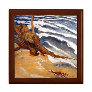 Treibholz durch das Strand-Schmuckkästchen Geschenkbox