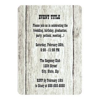 Treibholz-Hintergrund-Einladung 12,7 X 17,8 Cm Einladungskarte