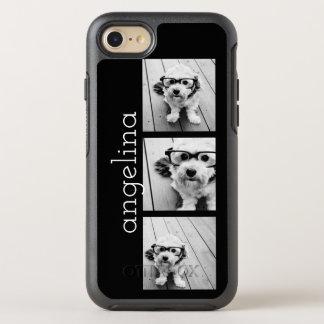 Trendy 3 Fotos und Name - WÄHLEN Sie OtterBox Symmetry iPhone 7 Hülle
