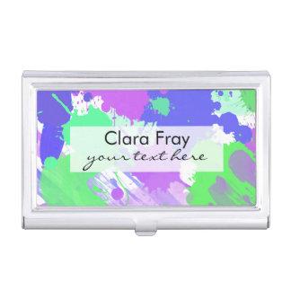trendy abstrakte bunte Neonbrushstrokes Visitenkarten Etui