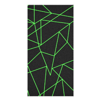 Trendy abstrakte zerbrochene Kunst Photo Grußkarte