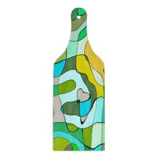 Trendy abstrakter grüner Konturn-Hintergrund Schneidebrett