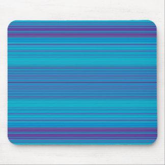 Trendy abstraktes blaue Streifen-Muster Mauspads