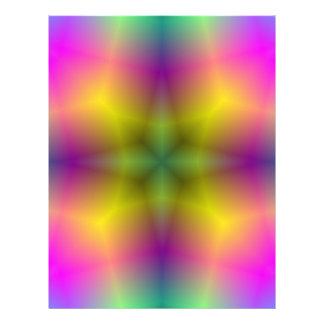 Trendy abstraktes buntes Muster Flyers