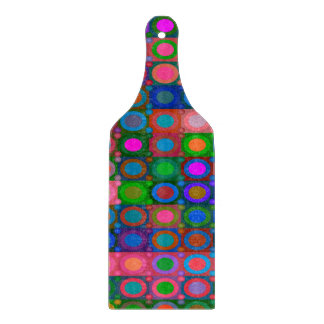 Trendy abstraktes Kunst-farbiger Kreis-Gitter Schneidebrett