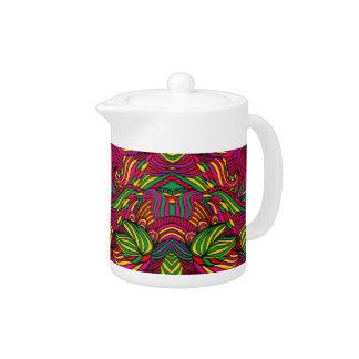 Trendy abstraktes Stammes- Muster. Brasilien-Farbe