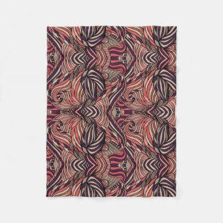 Trendy abstraktes Stammes- Muster Fleecedecke