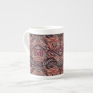 Trendy abstraktes Stammes- Muster Porzellantasse