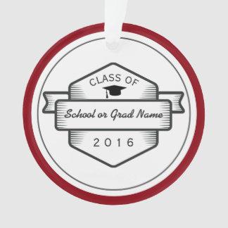 Trendy Abzeichen-Logo-Abschluss-Klasse von 2017 Ornament