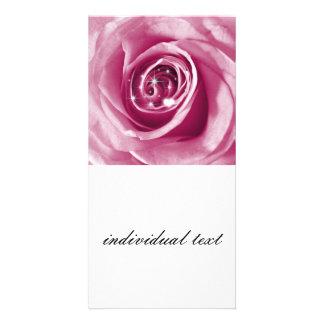 Trendy Bling auf Rose Personalisierte Foto Karte