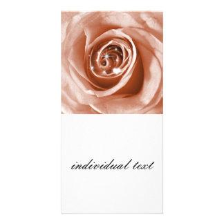 trendy Bling auf Rose, weicher Pfirsich (i) Photo Karten