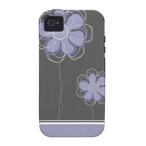 Trendy Blumendekor iPhone 4/4S Case-Mate