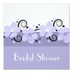 Trendy Brautparty laden - Lavendel-Blumen ein Quadratische 13,3 Cm Einladungskarte
