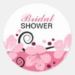 Trendy Brautparty-Rosa-Blumen-Aufkleber