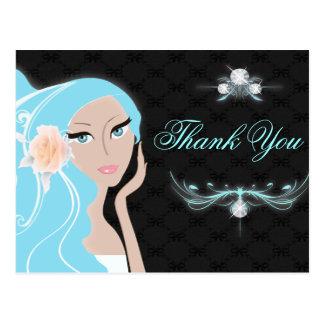 trendy Chic girly Fashionista-Brautparty Postkarte