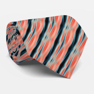 Trendy cooles orange und blaues Muster Bedruckte Krawatte