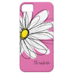 Trendy Daisy Floral Illustration - pink yellow iPhone 5 Covers