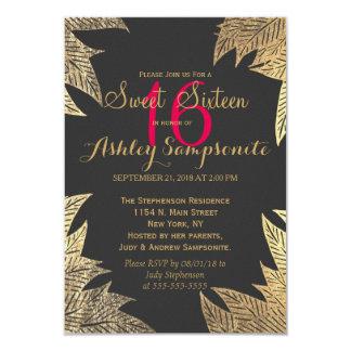 Trendy elegantes GoldImitat gezeichnetes 8,9 X 12,7 Cm Einladungskarte