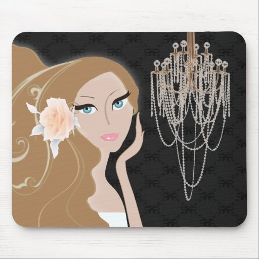Trendy Fashionista-Braut-Brautparty Mauspads