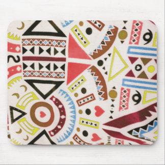 Trendy Girly abstraktes orange Stammes- Muster Bro Mousepads