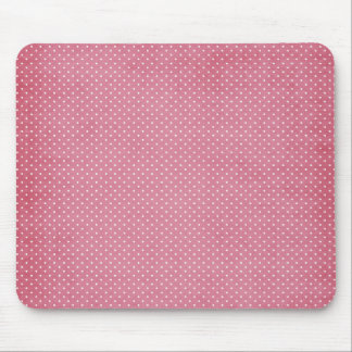 Trendy Girly Vintages rosa Polka-Punkt-Muster Mousepad
