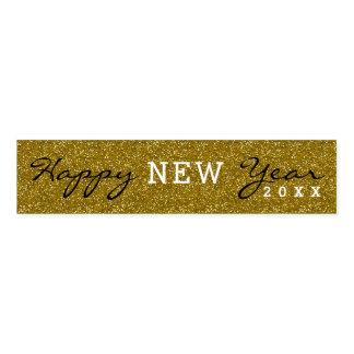 Trendy glückliches neues Jahr-GoldGlitzer Serviettenband