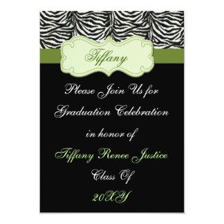 trendy grüne Abschluss-Party Einladung