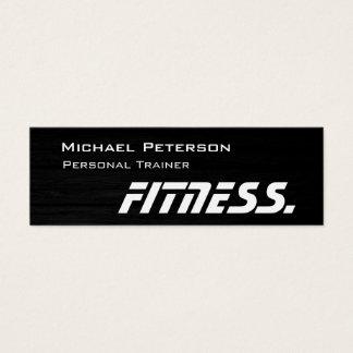 Trendy hölzerne Trainer-Fitness-dünne Mini-Visitenkarten