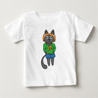 Trendy Katzen-niedlicher Cartoon Baby T-shirt