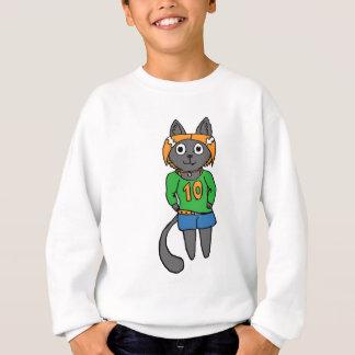 Trendy Katzen-niedlicher Cartoon Sweatshirt
