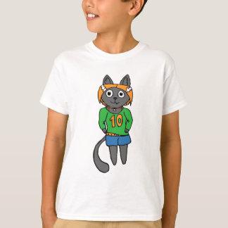 Trendy Katzen-niedlicher Cartoon T-Shirt
