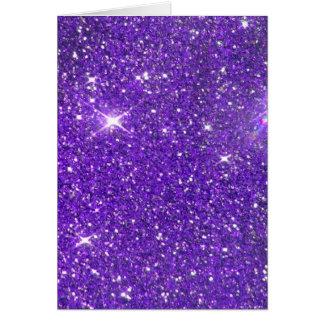 Trendy lila funkelnder GlitterGlitz Karte
