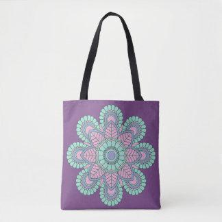 Trendy lila Mandala-kundengerechte Taschen-Tasche Tasche
