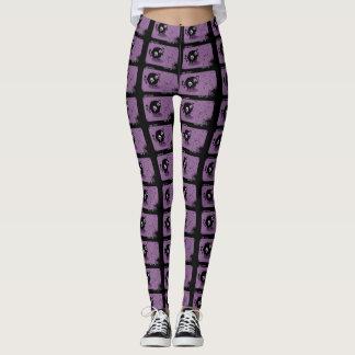 Trendy lila niedliche Cartoon-Dämon-Yoga-Gamaschen Leggings
