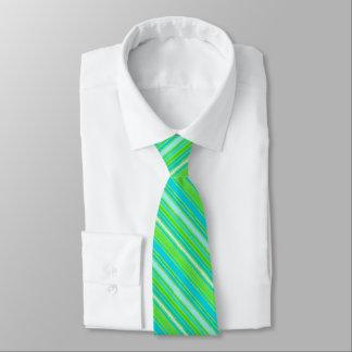 Trendy Limoner grüner Aqua-Türkis Stripes Muster Bedruckte Krawatten