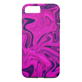 Trendy Marmor in rosa, lila, ultraviolett iPhone 8 Plus/7 Plus Hülle