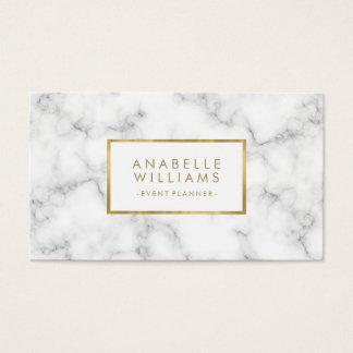 Trendy Marmor-und Imitat-Goldbeschaffenheit Visitenkarte