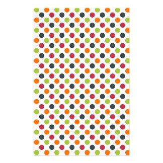 Trendy mehrfarbiges Polka-Punkt-Muster Personalisierte Druckpapiere