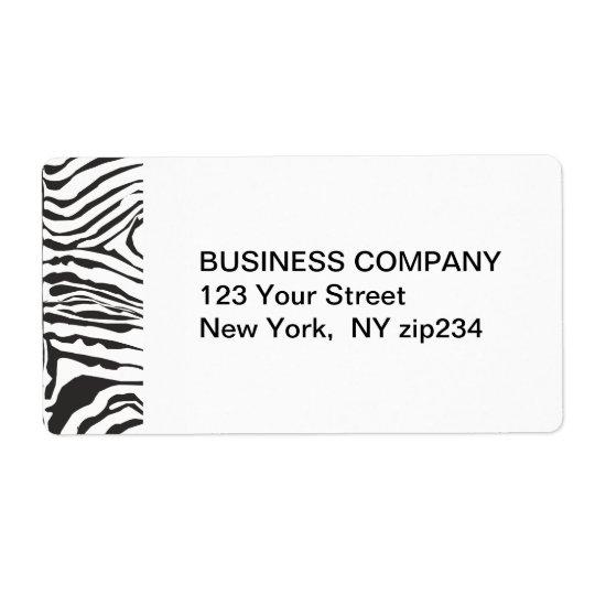 Trendy moderner Zebra-Schwarz-weißes Muster Versand Aufkleber