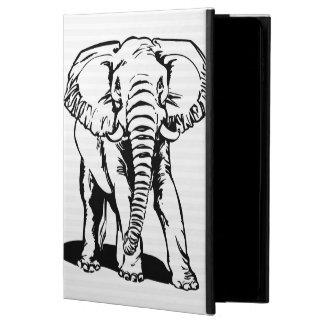 Trendy niedliche schwarze Elefant-Linie Zeichnen