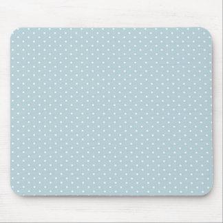Trendy niedliches Girly blaues weißes Polka-Punkt- Mousepad