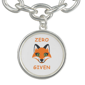 Trendy null Fox gegebener Phrase Emoji Cartoon Charm Armband