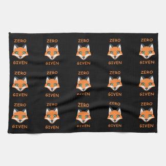 Trendy null Fox gegebener Phrase Emoji Cartoon Handtuch