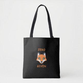 Trendy null Fox gegebener Phrase Emoji Cartoon Tasche