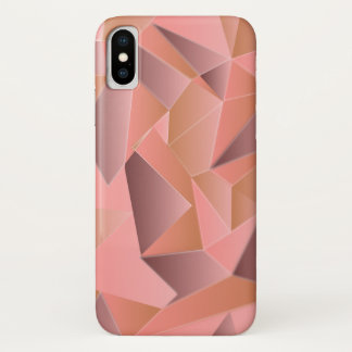 Trendy Ombre geometrisches gemustertes iPhone X Hülle