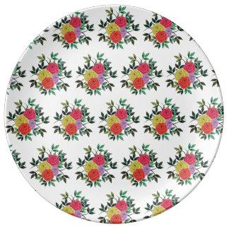 Trendy Rosen 27,3 cm dekorative Porzellan-Platte Teller